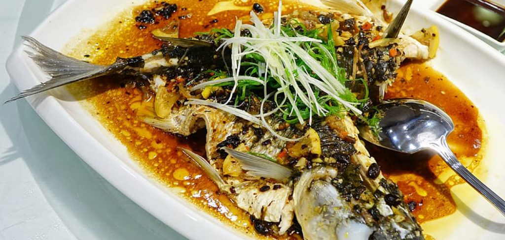 steam fish with black bean sauce